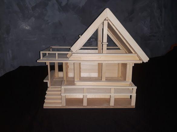 Дървена къща ръчна изработка