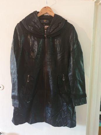 Пальто демисезонное, куртка кожаная
