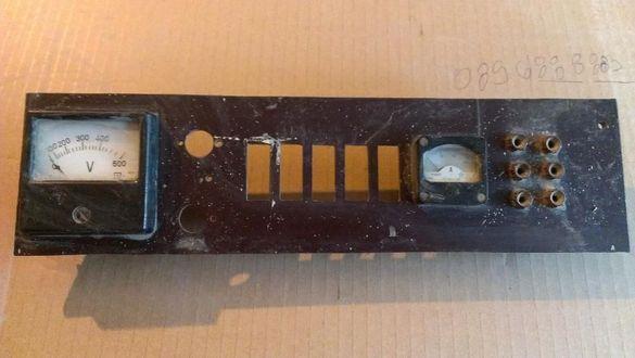 Аперметър и волтметър за зарядно на акумулатори