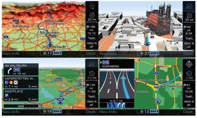 Update Actualizare Harti Navigatie Carplay MMI 3G Audi A4 A5 A6 Q5 VW
