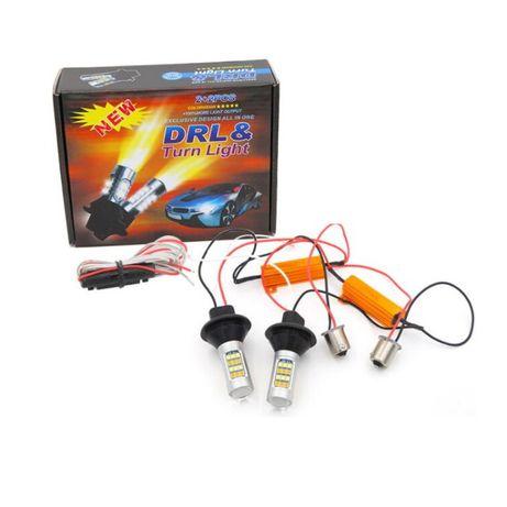 LED крушки за дневни светлини + мигач, Дневни Светлини със Мигач ТОП