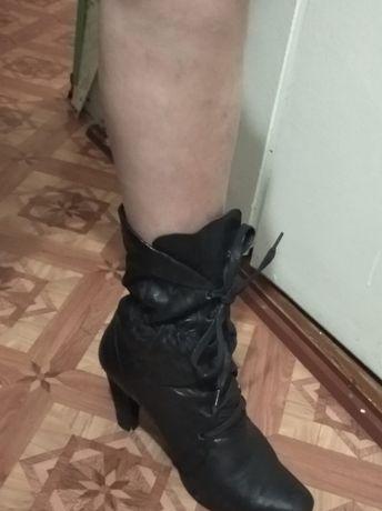 ботинки кожаные натуралка