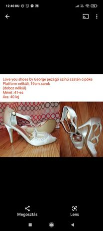 Pantofi dama ideala mireasa marime 41