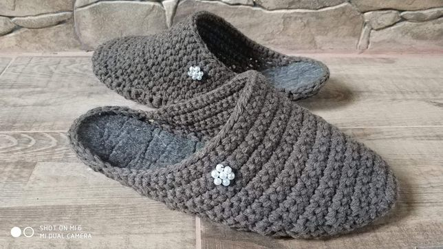 Papuci de casa crosetati