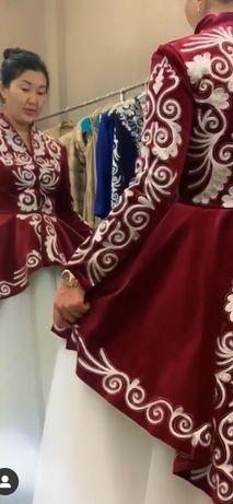 Платье на узату от дизайнера Айпери Абозова, 44 размер, сшито на заказ