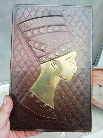 Медно пано Нефертити 28.5см на 18.5см картина