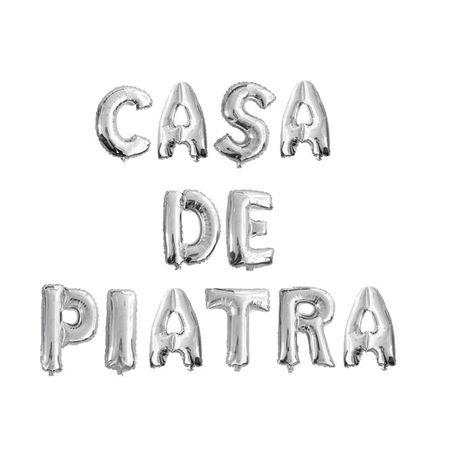 Set baloane folie CASA DE PIATRA silver