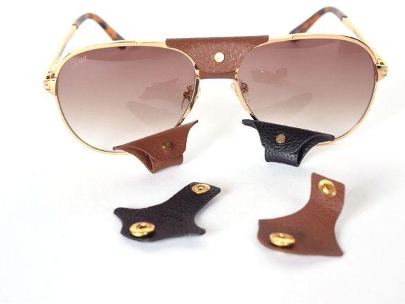 Cartier leather patch Кожа за слънчеви очила Картиер