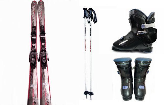 Echipament schi: schiuri carve+clapari+bete