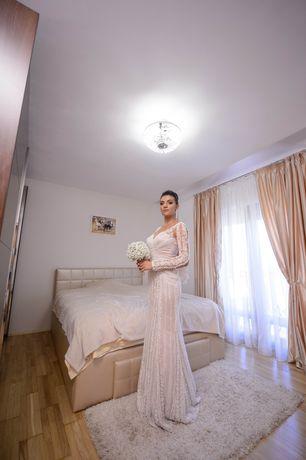 Rochie de Mireasa Sirena, model UNICAT, Nude DE VANZARE
