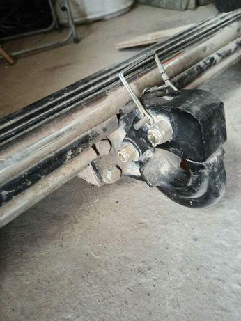 Бампер задний силовой с крюком для прицепа Toyota Land Cruiser Prado