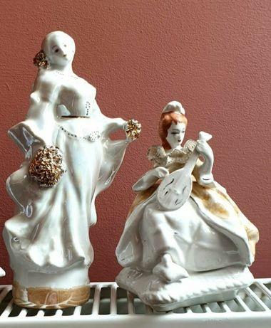 Bibelou doamnă detalii aurite balerină Curtea de Argeș decorațiune
