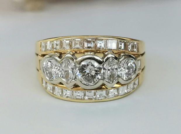 Inel aur 18K cu 2.70ct diamante naturale
