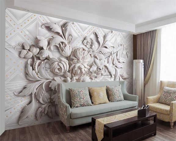 Отделка: поклейка обоев, шпатлевка стен-потолко