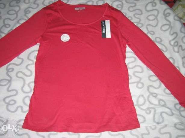 bluza subtire rosie din bumbac noua cu eticheta