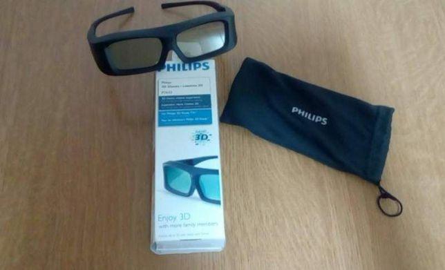 Ochelari pentru televizor 3D Philips, noi in cutie, model PTA 03