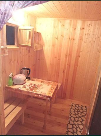Новая баня на дровах.