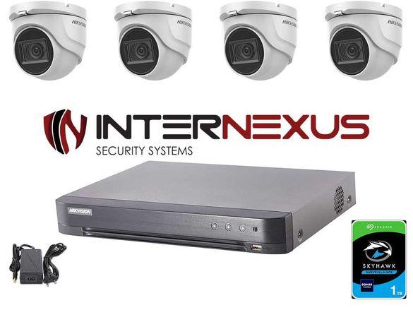 8 MPx HD-TVI Система за Видеонаблюдение Hikvision с 4-и Камери