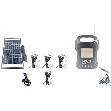 KIT solar celule Fotovoltaice premium 4 becuri mp3 radio slot