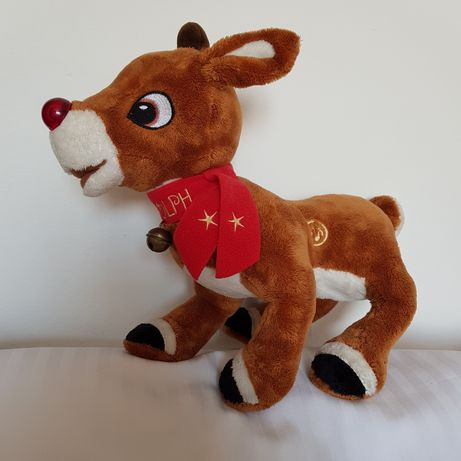 Rudolph the RED din pluș cu bateri