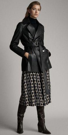 Jacheta din piele naturala, Massimo Dutti