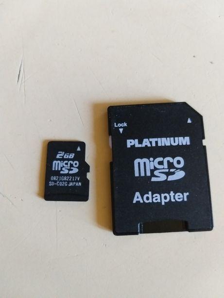 Micro sd 2gb si 8gb microsd card memorie si adaptor