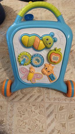 Бебешка музикална играчка за прохождане Приятели
