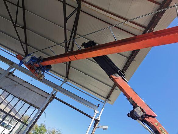 НОВИ мостови кран с радиоуправление и нов телфер и употребяванини