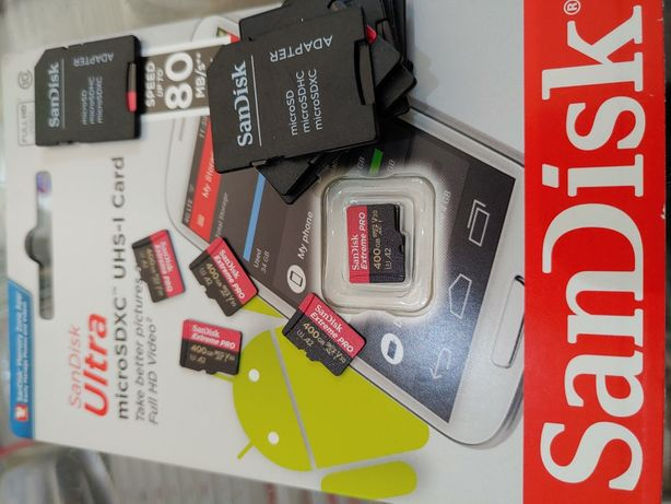 "Card micro sd noi ""0 sec"" 400gb reali cu garantie sandisk extreme pro"