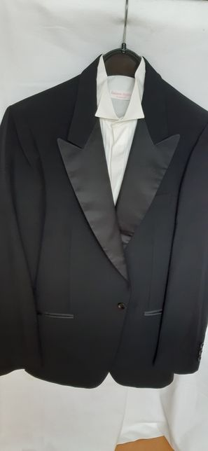GIORGIO SANTI Costum smoking negru complet, mas. 50, made in Italia