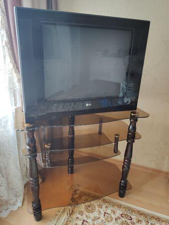 Телевизор с тумбой под ТВ стеклянный