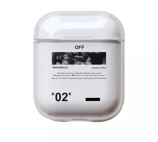 Husa Airpods | Clear case | Off White