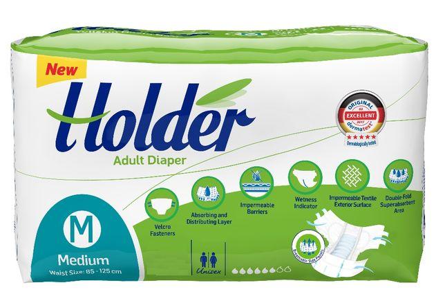 30 Scutece adulti, marca Holder, Marimea M - Medium, 6 lacrimi