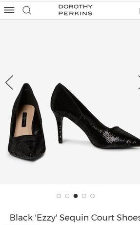 Pantofi negri paiete Dorothy Perkins 39