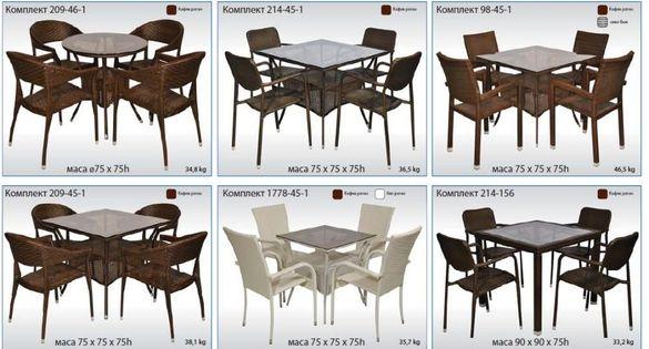 Промоция маси и столове за заведения