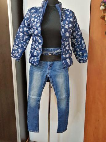 Blugi H&M+pantalonasi 7-8 ani