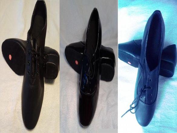 Мъжки обувки за спортни танци,салса,кизомба,танго- черни