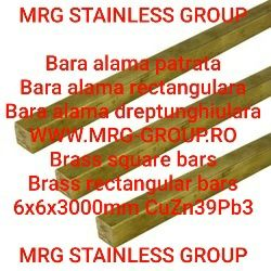 Bara alama patrata 6x6x3000mm patrat alama aluminiu inox cupru CW614N