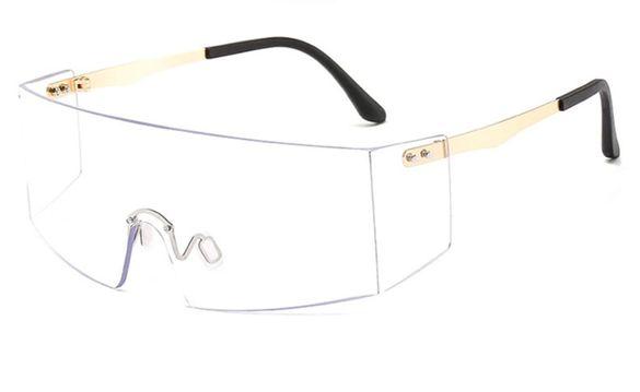 Ефектни прозрачни очила със златни рамки