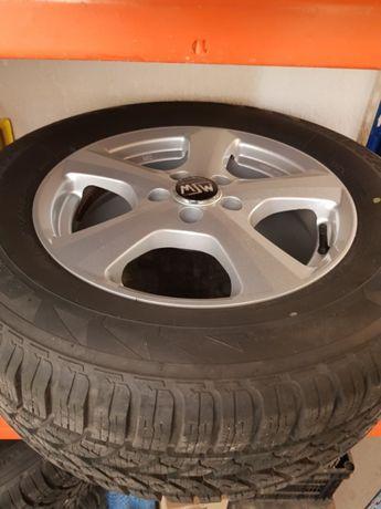 """Jante aliaj MSW 16"""" + cauciucuri iarna Bridgestone 225/65/r16"""