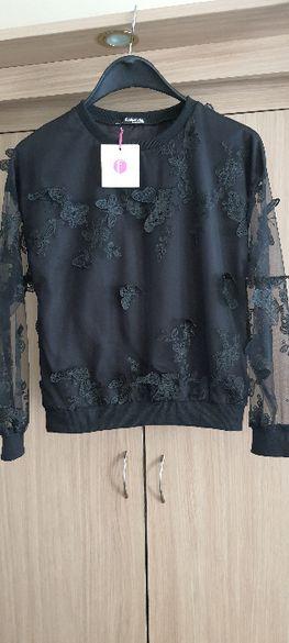 Нова блуза с 3D дантелени пеперуди