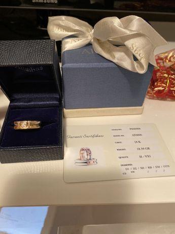 Златен пръстен с диамант Altunbas