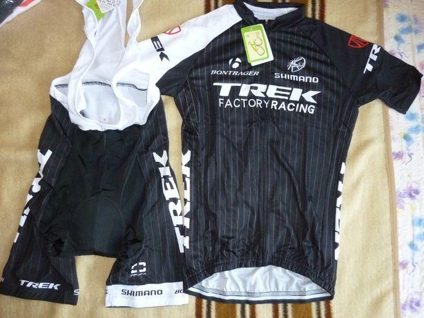 Echipament ciclism Trek Negru set pantaloni tricou NOU