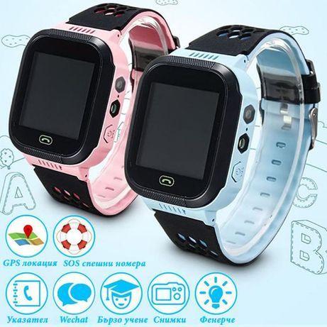 Детски смарт часовник телефон камера фенерче сим карта GPS WIFI SOS LB
