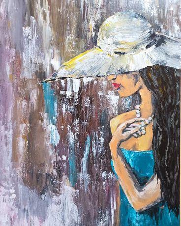 """Авторская картина """"Дама в шляпе"""""""