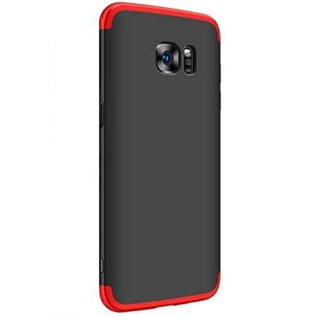 Husa pentru Samsung Galaxy S7 Edge, GloMax 360 Negru-Rosu