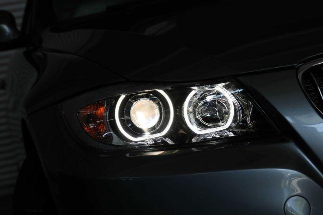 19.  Faruri BMW Seria 3 E90 (2005-2008) Angel Eyes Garantie 12 luni