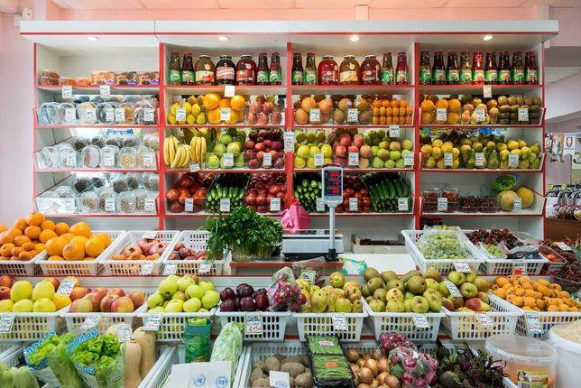 Овощной отдел при минимаркете