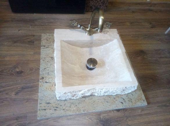 Мивка естествен камък - травертин