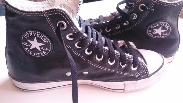 Converse All Star din piele imblanita